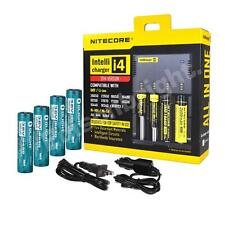 New NITECORE i4 Charger 2014 Version w/4X OLIGHT 3400mAh 18650 Li-ion batteries