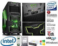 PC DESKTOP INTEL QUAD CORE GAMING ITEK NINJA 8GB RAM HD 1TB VGA 1GB HDMI DVI