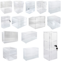 2/3/4 Shelves Acrylic Display Cabinet Glued/Unassembled Bakery Clear Pastry