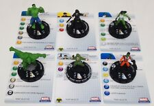 Heroclix Incredible Hulk set COMPLETE 6-figure Fast Forces lot w/cards!