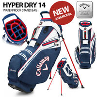 Callaway Hyper Dry 14 Waterproof Stand Golf Bag Navy/White - NEW! 2020