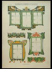 ENCADREMENTS DE FENETRES, VON BERLEPSCH -1903- LITHOGRAPHIE, ART NOUVEAU
