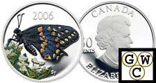 2006 Butterfly Colorized Short-Tailed Swallowtail 50ct Silver (11933)