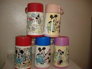 5 MICKEY MOUSE ~ Disney/Aladdin Thermos !