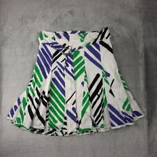 Kenneth Cole Reaction Pleated Geometric Print Skir