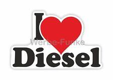 I Love Diesel 135 x 80 mm Sticker Aufkleber