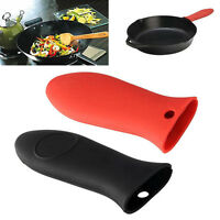 Heat-Resistance Silicone Pan Handle Holder Cover Grip Home Kitchen Utensil