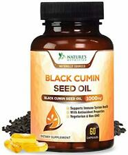 Black Seed Oil Capsules, Max Potency Cold-Pressed 1000mg - Premium Nigella Sativ