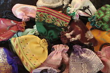 100 Schmuckbeutel Beutel Säckchen Stoff Geschenkbeutel Verpackung - Sari Stoff