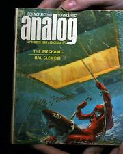 ANALOG MAGAZINE SIGNED BY KELLY FREAS 1966/09 b GOOD- HAL CLEMENT