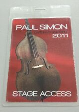 2011 Paul Simon Laminated Backstage Pass Stage Access Hologram