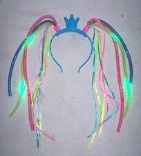 6 PRINCESS LIGHT UP NOODLE HEADBAND flashing girls hat lightup blinking tiara