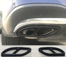 2 x V8 Look Auspuffblende Schwarz Auspuff Abdeckung für Mercedes B C E CLA  W205