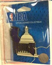 SACRAMENTO KINGS NBA CAPITOL CITY ENAMEL LAPEL HAT PIN FREE SHIPPING
