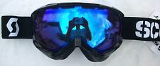 NEW $110 Scott Womens Reply Ladies Gloss Black Ski Goggles Snow Roxy Smith White