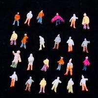 100 Painted Model People Figures Train Railway Diorama Wargames Scenery Z