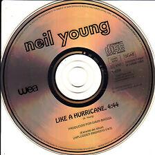 CD SINGLE promo NEIL YOUNG like a hurricane 1-TRACK live SPANISH rare 1993