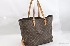 Authentic Louis Vuitton Monogram Cabas Alto Tote Bag M51152 LV T538