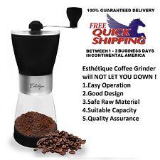 Manual Coffee Grinder Grind Adjustable Ceramic Burr Mill Hand Portable Crank
