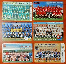 Israel, Lot of 6 Phone Cards Telecards *Football, Teams* !Free Shipping! - t02