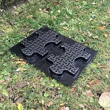 2 pcs Plastic MOLDS form of Puzzle for Concrete Garden Stepping Stone Path Patio
