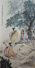 """Excellent Chinese 100% Handed Painting & Scroll """"Figure"""" By Fu Baoshi 傅抱石 WED169"""