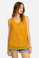 New listing NEW JOHNNY WAS SMALL CARDEN EMBROIDERED TANK YELLOW GOLD NWT