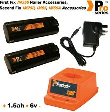 2 x PS Batteries 1.5ah for Paslode nailer- Wall Charger - Paslode Charger Base