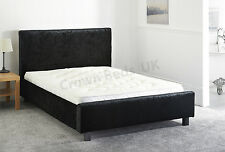 VELVET MIAMI UPHOLSTERED BED FRAME IN 6FT,SUPER KINGSIZE BLACK