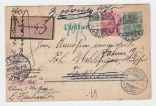 """Germania: 1901: cartolina mandata in Francia con un """"contrassegno"""", lable."""