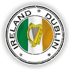 Ireland Dublin Stamp Seal Sticker Decal for Car Truck Laptop Tablet Fridge  #02
