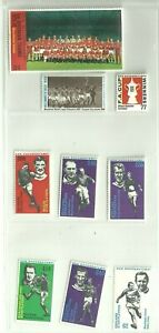 9 x MANCHESTER UNITED 1970's Sun Soccer Stamps