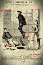 Victorian Penny Dreadful Spring Heeled Jack Print Terror of London Steampunk