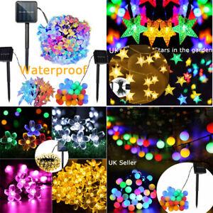 30 50 60 LED Solar Powered Fairy String Star Ball Flower Lights Outdoor Garden