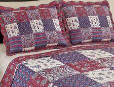 Set Standard Quilted Pillow Shams Windsor Floral Paisley Patchwork Pillow Sham