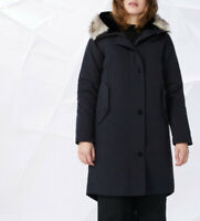 Elvine Womens Essa 193524 Parka Midnight Blue L
