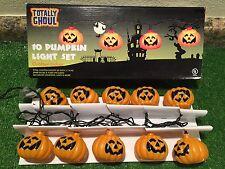 New Set Of Ten Halloween Blow Mold Jack-O-Lantern Pumpkin Novelty Lights