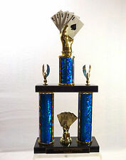 CARD HAND TROPHY TEXAS HOLD'EM POKER TROPHY POKER TOURNAMENT 2 POSTER # 1