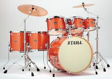 Tama drums set Superstar Classic Maple Bright Orange Sparkle 7 piece kit NEW