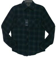 Paper Denim & Cloth Royal Grey Plaid Flannel Shirt Men's Size Small New
