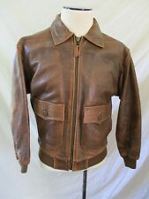 OUTBACK RED Australian lamb leather brown flight military bomber jacket SMALL
