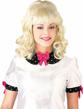 Morris Costumes Women's 1960s Shoulder Length Curly Hair Wig. PM577542
