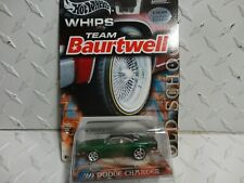 Hot Wheels Whips Team Baurtwell Green '69 Dodge Charger w/Real Riders