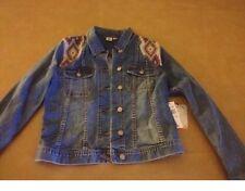 NWT Roxy Womens Jean Jacket w Embellished Stitching Size Medium Dancing Shores M