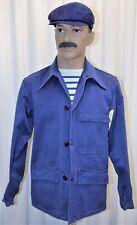Veste travail vintage VTN bleu indigo french work chore jacket 100% coton T 48