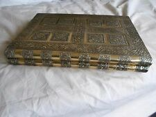 Indian Hand Crafted, Large, Book Shaped Gold Jewellery Box