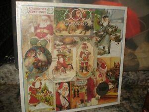 FX Schmid Christmas Greetings Exquisit Puzzle 600 Pieces Santa Vintage 97851.9