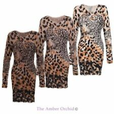 Animal Print Leopard Hand-wash Only Dresses for Women