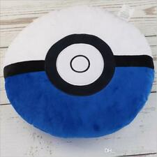 Pokemon ball pillow 16 inch Blue/ White room decor