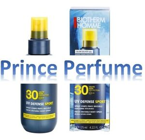 BIOTHERM HOMME UV DEFENSE SPORT SPF 30 FRESH INVISIBLE BODY SPRAY - 125 ml